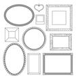 set doodle frames vector image
