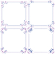 set Multilayer violet blue elegant frame vector image vector image