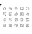 simple set feedback related line icons vector image