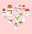 snowman icon on background for christmas holidays vector image vector image