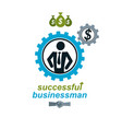Successful businessman creative logo conceptual