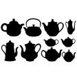 tea pots vector image vector image