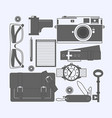things a man carries with him watch keys vector image vector image