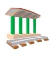 Train station cartoon icon vector image vector image