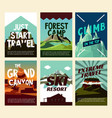 travel mountain landscape posters vector image vector image