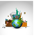 Travel of the world background vector image vector image