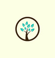 tree gardening circle creative business logo vector image vector image