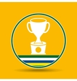 trophy award sport badge icon vector image vector image