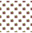 wallet pattern vector image vector image