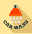 water drop car wash logo flat style vector image