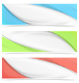 Web abstract bright colorful header design vector image vector image
