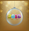 xmas ball with golden background vector image vector image