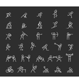 Sports thin line icons outline sport and vector image