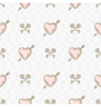 Seamless background with arrow pierced hearts vector image