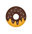 realistic chocolate donuts in glaze isolated on vector image