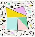 Modern geometric memphis background Retro style vector image