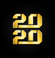 2020 symbol text for new year element design vector image vector image