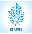 Abstract geometric flower vector image vector image