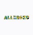 allergic concept word art vector image vector image