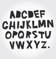alphabet from A to Z Set black letters on white vector image