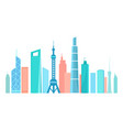 asian modern city silhouette with high skyscrapes vector image