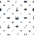 attractive icons pattern seamless white background vector image vector image