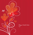 background with abstract hearts vector image vector image