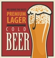beer retro glass vector image vector image