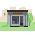 book store building in city vector image vector image