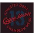 cape town sport t-shirt design vector image vector image