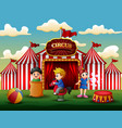 cartoon children having fun on the amusement vector image vector image