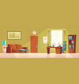 cartoon empty office with ringing phone vector image vector image