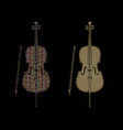 cello instrument cartoon music graphic vector image