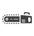 chainsaw glyph icon build and repair vector image vector image