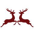 christmas reindeer vector image