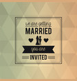 colorful abstract background card of wedding vector image vector image