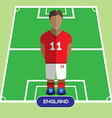 Computer game England Soccer club player vector image vector image