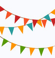 cute festive colorful flags vector image vector image