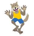 cute werewolf boy vector image vector image