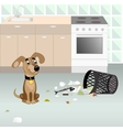 Dog looking for food vector image vector image