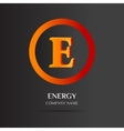 E Letter logo abstract design vector image vector image