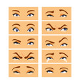 eyes with emotions vector image vector image