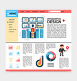 flat business infographic website template vector image