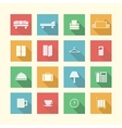 Flat icons for hotel vector image