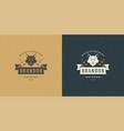 fox head logo emblem vector image vector image