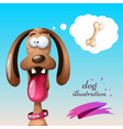 funny cute crazy dog vector image