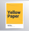glued paper yellow poster template vector image