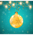 Golden shining Christmas decoration and ribbons vector image vector image