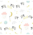 good night childish seamless pattern with sheeps vector image vector image
