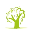 Green tree icon for your design vector image vector image